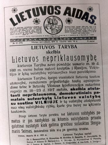 1918 Lietuvos aidas