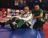 Erikas Čerepokas ir treneris Marius Baranauskas