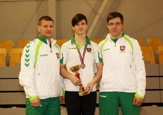 Treneris Aivaras Kaselis, Danutė Domikaitytė ir Andrius Stočkus