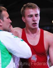 treneris Olegas Antoščenkovas ir Romas Fridrikas