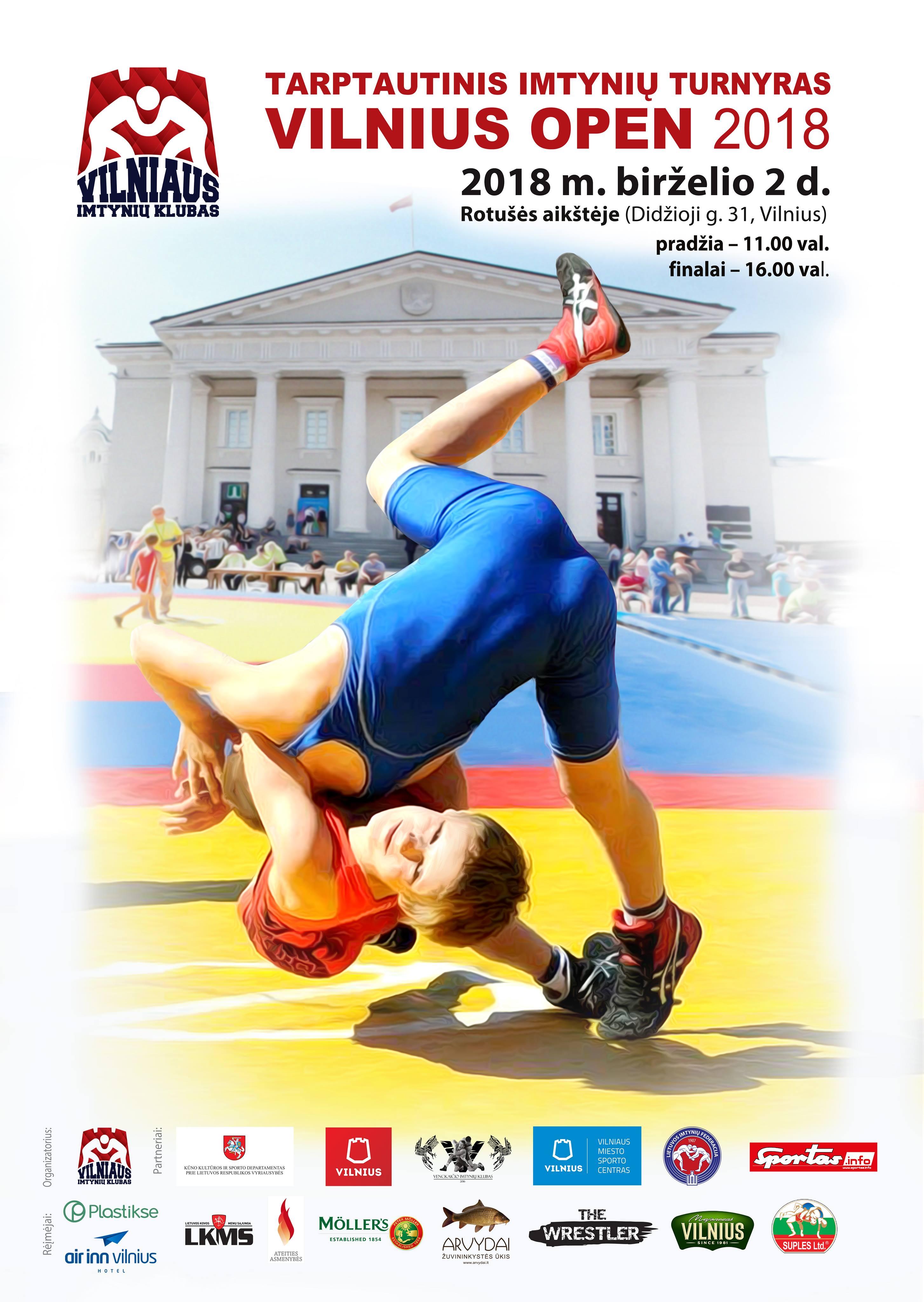 2018 Vilnius Open plakatas1
