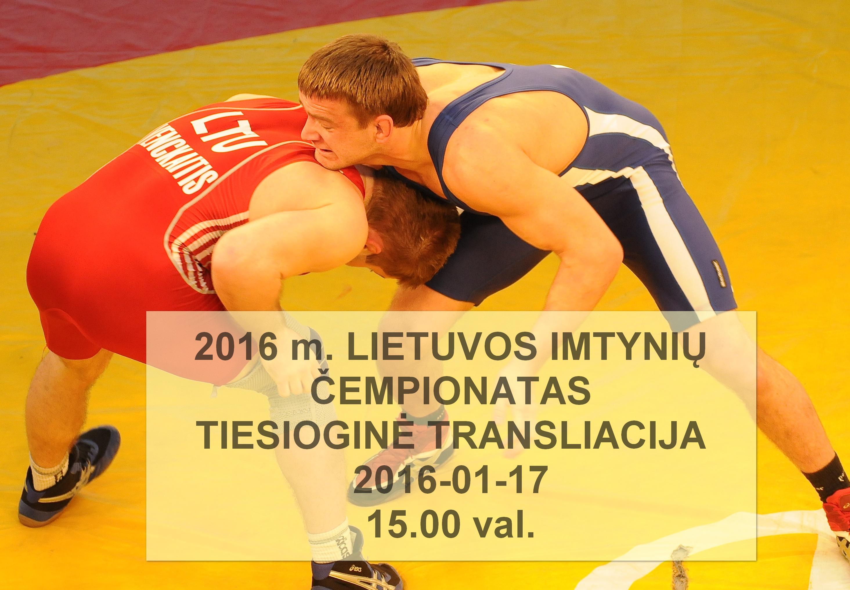 2016m Lietuvos-imtynių čempionatas