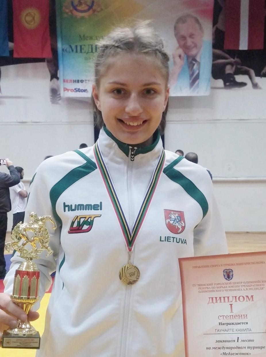 Ant bangos: Kamilė Gaučaitė – prestižinio imtynių turnyro nugalėtoja