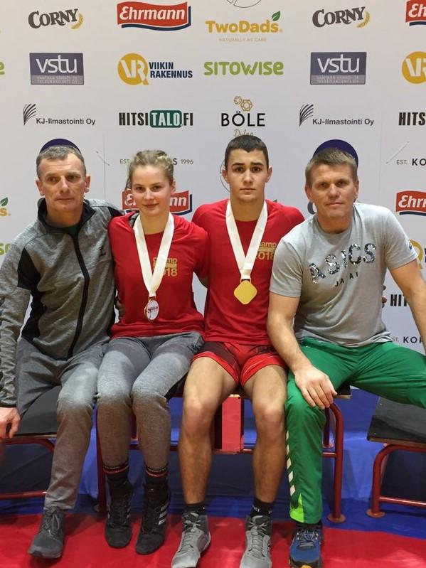 Imtynių turnyre Suomijoje – du aukso medaliai