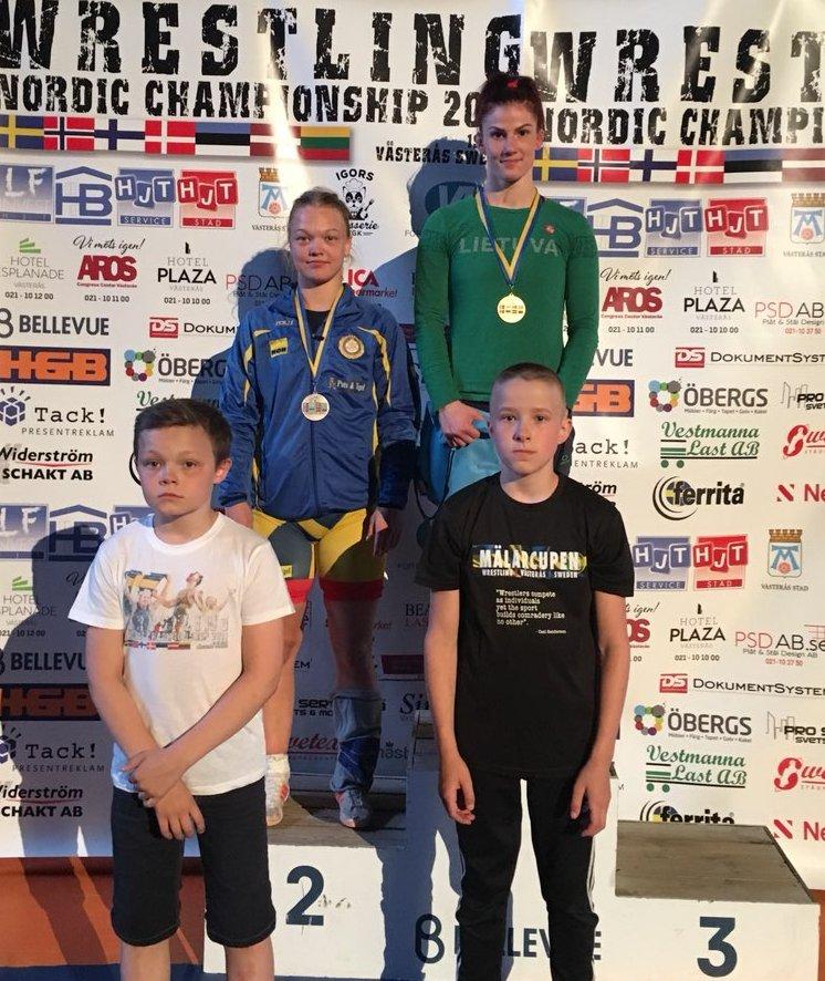 Europos Šiaurės šalių imtynių čempionate – penki medaliai