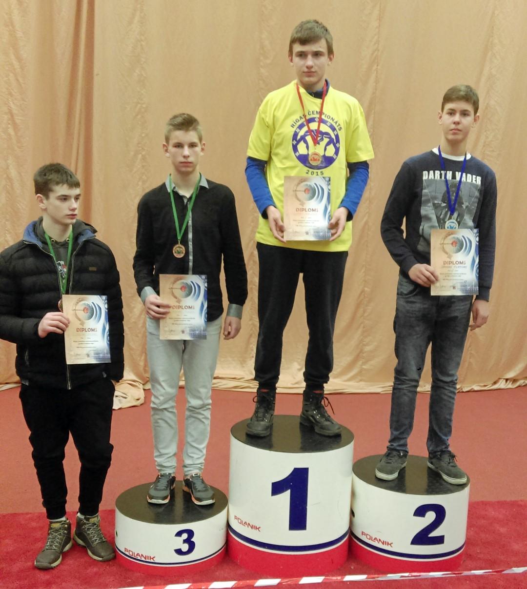 L.Malyško – Rygos atvirųjų imtynių jaunių pirmenybių nugalėtojas