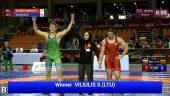 Simonas Viliūlis – Europos moksleivių imtynių čempionato bronzos medalio laimėtojas! (dvikovų vaizdo įrašai)