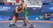 Pasaulio imtynių jaunių čempionate A.Lygnugarį sustabdė lenkas; I.Bukauską paskandino emocijos, tačiau varžovas padovanojo bilietą į paguodą (video)