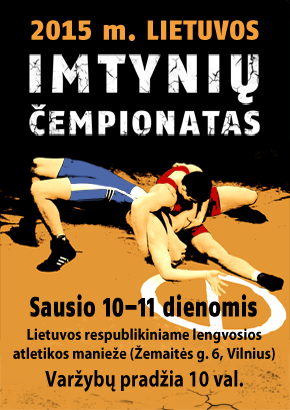 Sausio 10-11 dienomis Vilniuje vyks Lietuvos imtynių čempionatas