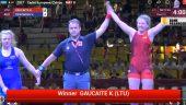 """Drama iki paskutinės sekundės. Imtynininkė Kamilė Gaučaitė išsaugojo įgytą pranašumą ir iškovojo Europos jaunių čempionato bronzą! (""""bronzinės"""" dvikovos video)"""