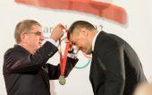 TOK prezidentas atstatė teisybę – įteikė M. Mizgaičiui olimpinį sidabro medalį